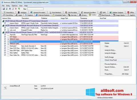 截圖 AutoRuns Windows 8