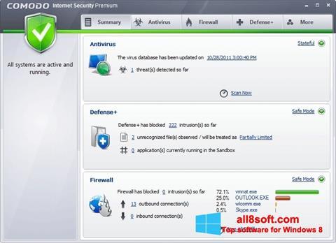 截圖 Comodo Internet Security Premium Windows 8