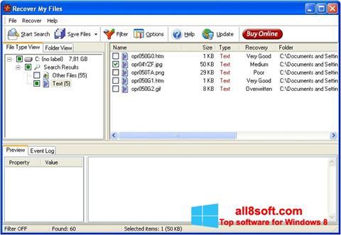 截圖 Recover My Files Windows 8