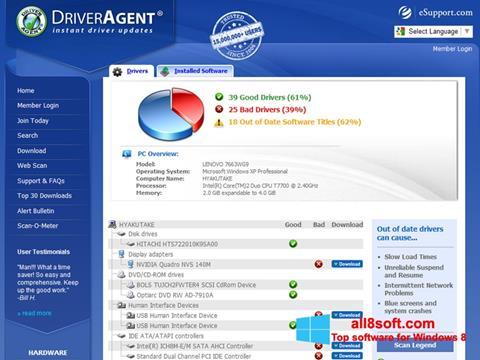 截圖 DriverAgent Windows 8