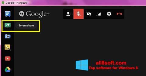 截圖 Hangouts Windows 8
