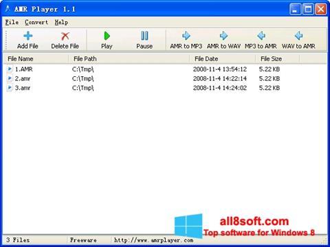 截圖 AMR Player Windows 8
