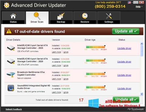 截圖 Advanced Driver Updater Windows 8