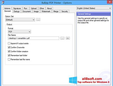 截圖 BullZip PDF Printer Windows 8