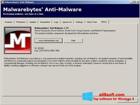 截圖 Malwarebytes Anti-Malware Free Windows 8