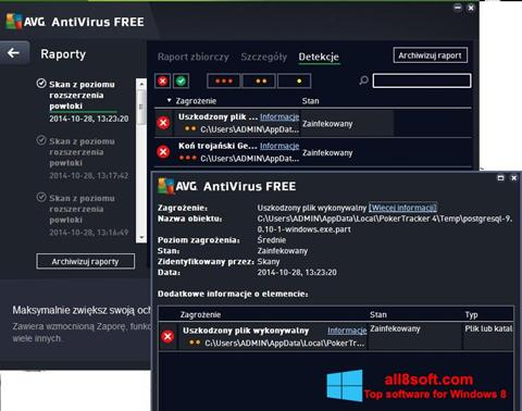截圖 AVG AntiVirus Free Windows 8