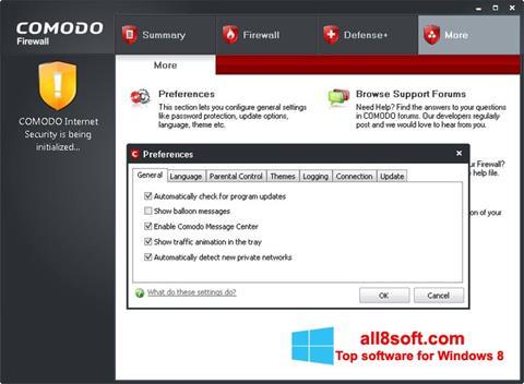 截圖 Comodo Firewall Windows 8