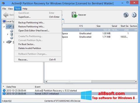 截圖 Active Partition Recovery Windows 8