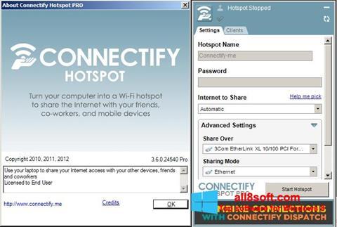 截圖 Connectify Hotspot PRO Windows 8
