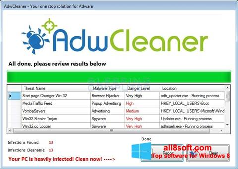 截圖 AdwCleaner Windows 8
