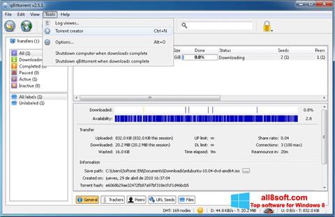 截圖 qBittorrent Windows 8