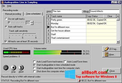 截圖 Audiograbber Windows 8