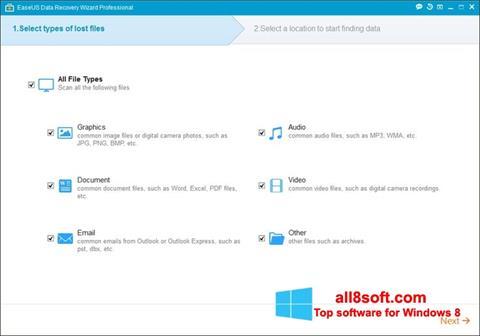 截圖 EaseUS Data Recovery Wizard Windows 8