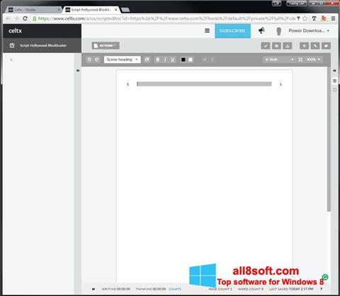 截圖 Celtx Windows 8