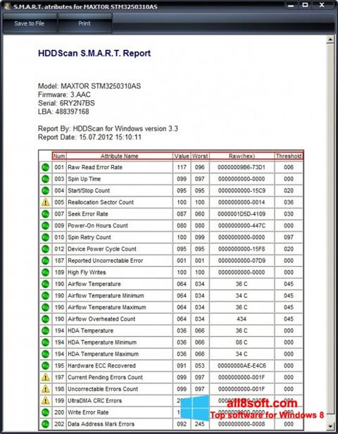 截圖 HDDScan Windows 8
