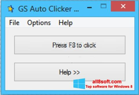 截圖 GS Auto Clicker Windows 8