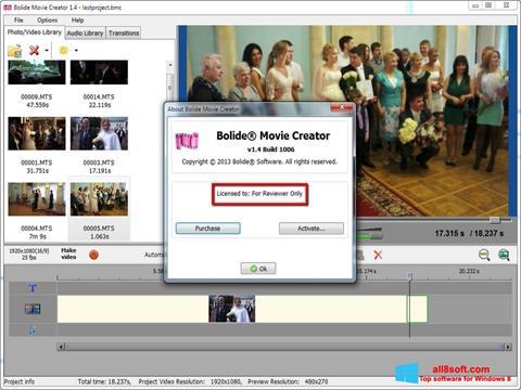 截圖 Bolide Movie Creator Windows 8