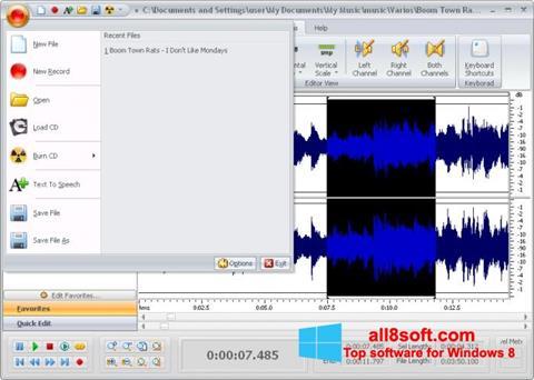 截圖 Free Audio Editor Windows 8