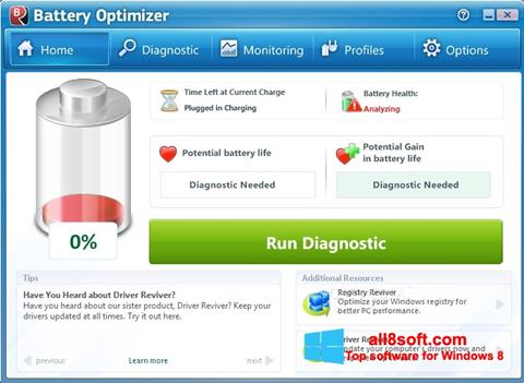 截圖 Battery Optimizer Windows 8