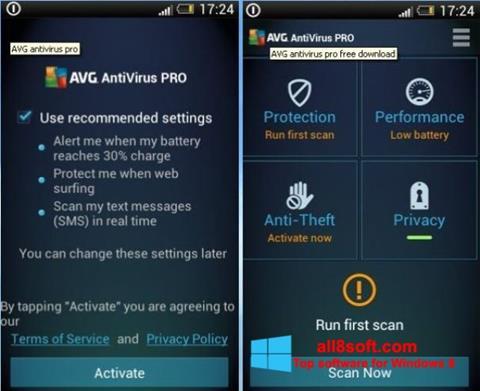 截圖 AVG AntiVirus Pro Windows 8