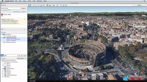 截圖 Google Earth Pro Windows 8