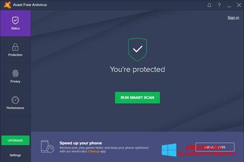 截圖 Avast Free Antivirus Windows 8