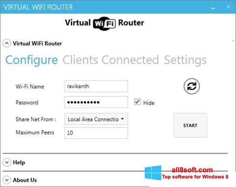 截圖 Virtual WiFi Router Windows 8