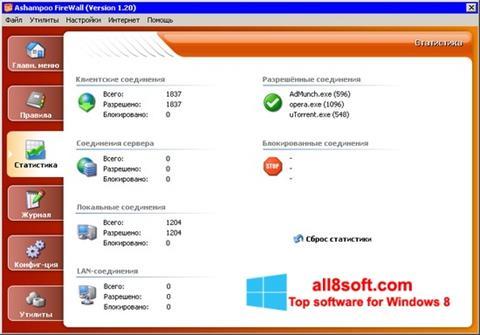 截圖 Ashampoo Firewall Windows 8
