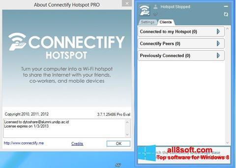 截圖 Connectify Hotspot Windows 8