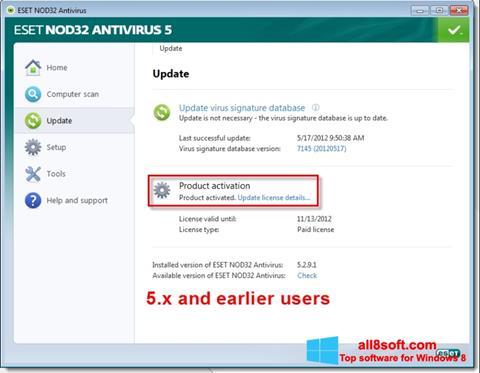 截圖 ESET NOD32 Windows 8
