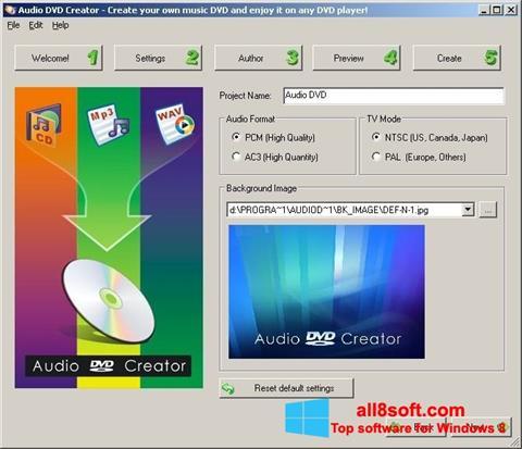 截圖 Audio DVD Creator Windows 8