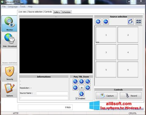 截圖 webcamXP Windows 8