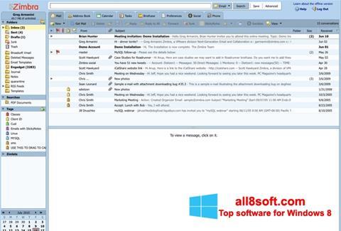 截圖 Zimbra Desktop Windows 8