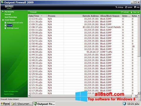 截圖 Outpost Firewall Free Windows 8