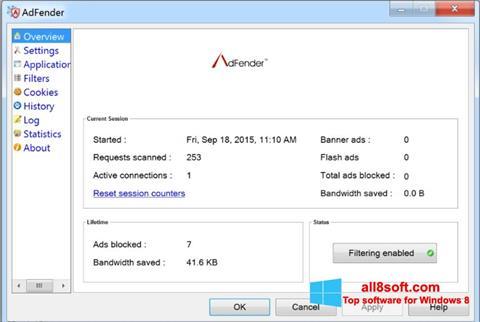截圖 AdFender Windows 8