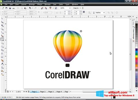 截圖 CorelDRAW Windows 8