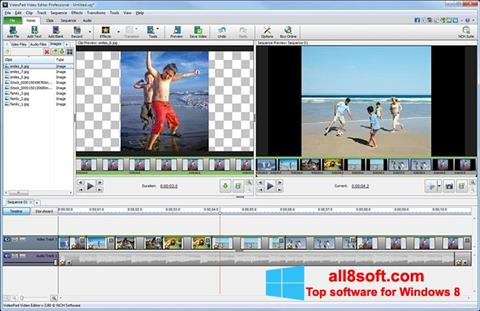 截圖 VideoPad Video Editor Windows 8