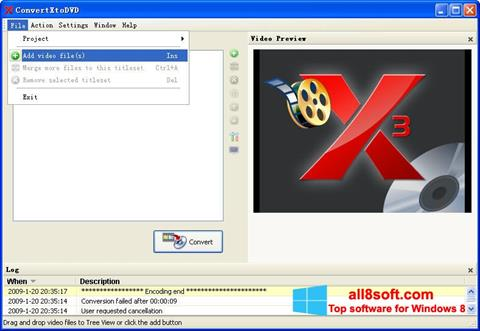 截圖 ConvertXToDVD Windows 8