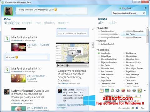 截圖 Windows Live Messenger Windows 8