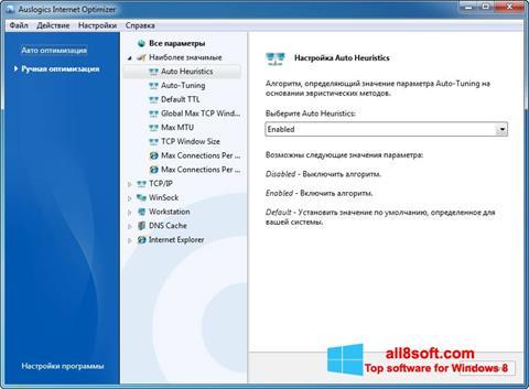 截圖 Auslogics Internet Optimizer Windows 8