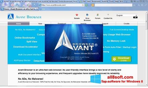 截圖 Avant Browser Windows 8