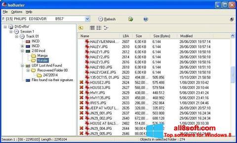 截圖 IsoBuster Windows 8