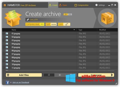 截圖 Hamster Free ZIP Archiver Windows 8