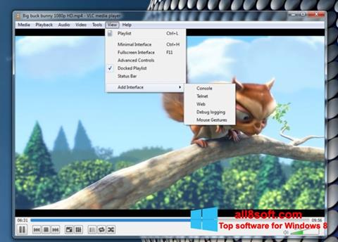 截圖 VLC Media Player Windows 8
